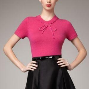Kate Spade Ellis cashmere short sleeve sweater